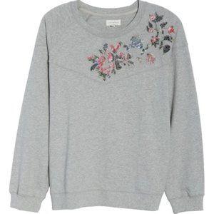 Lucky Brand Floral Sweatshirt (Plus Size) New Grey